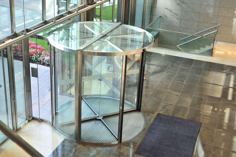 درب شیشه ای اتوماتیک چرخشی